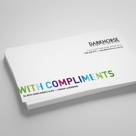 compliments slips