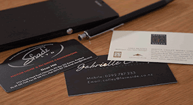 business cards foil