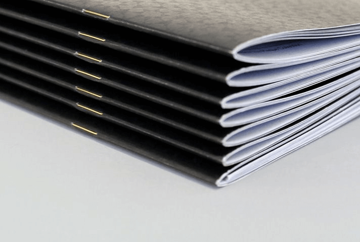 saddle stitch staple booklet