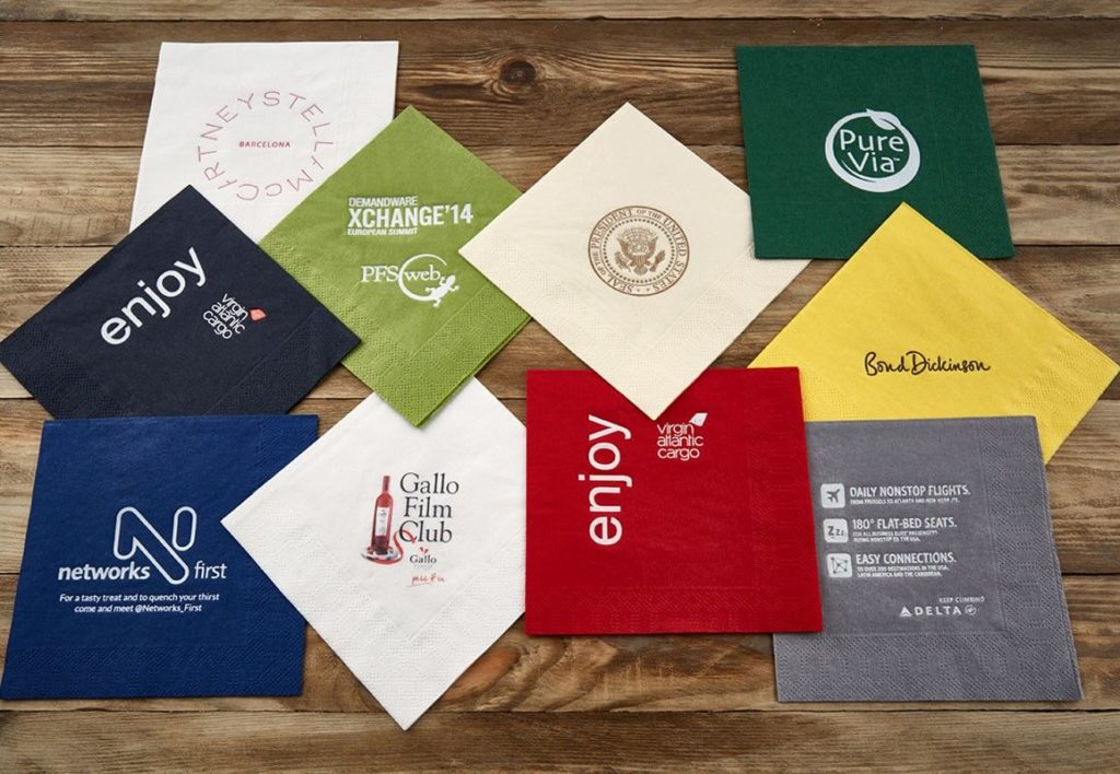 personalised printed napkin